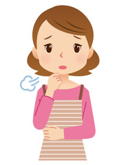 女性 主婦 表情 ため息