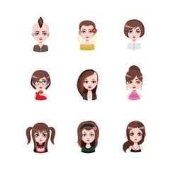 Women avatar with brown hair #1