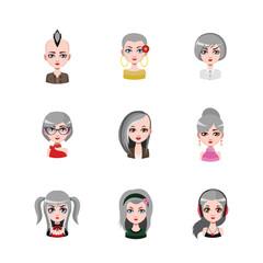 Women avatar with gray hair #3