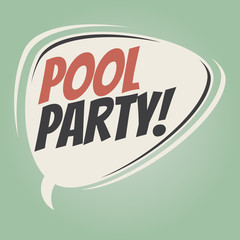 pool party retro speech balloon
