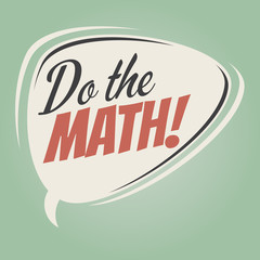 do the math retro speech balloon