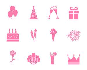 Geburtstag Iconset - Pink