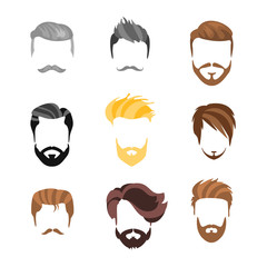 Male Hairstyle Constructor For Face Set