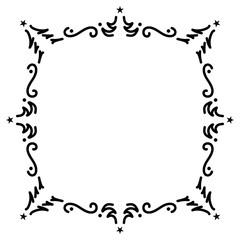 Vintage frame decoration