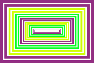 Purple & Green Boxes - Abstract Design