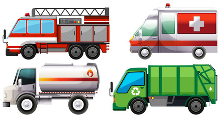 Different types of service trucks