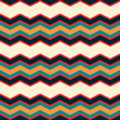 Bright multicolor chevron or zig zag seamless pattern for textile and backgrounds.