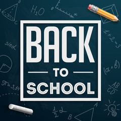 Back to school. Banner. Sale. Vector illustration.