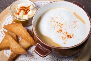 Russian mushrooms soup