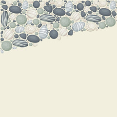 Vector background with stones
