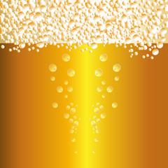 Water drops on beer background vector.