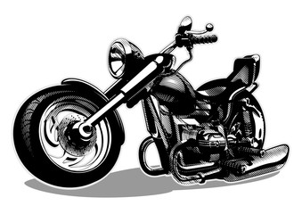 Vector Cartoon Motorbike. Available EPS-8 vector format separated by layers for easy edit
