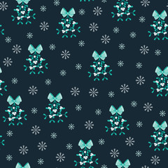 Mistletoe seamless wallpaper