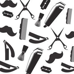 flat design Barber shop pattern vector illustration