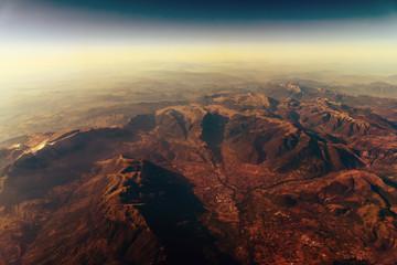 Earth Horizon Photo From 35.000 Feet Altitude