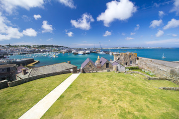 St Peter Port Harbour, Guernsey, seen from Castle Cornet