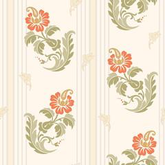 Modern design pattern. Desktop wallpaper. Background. Floral pattern for your design. Illustration. Modern seamless pattern for interior decoration, wrapping paper, graphic design and textile.