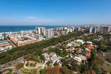 Condominium Buildings in Highly Americanized Barra da Tijuca District in Rio de Janeiro