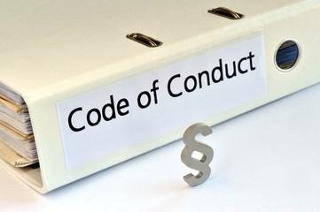 Code of Conduct, CoC, Betrieblicher Verhaltenskodex, Selbstverpflichtung, Arbeitsleben, Moralkodex, Leitlinien, Corporate Governance, Ethik, Compliance, Governance, Richtlinien