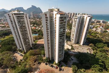 Condominium Buildings in Highly Americanized Barra da Tijuca District in Rio de Janeiro
