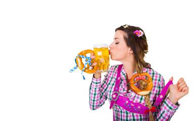 Fototapete - Frau trinkt Alkohol