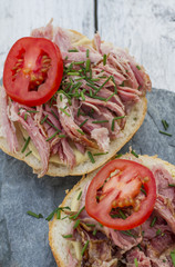 Sandwich with grilled meat