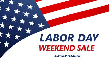 Labor Day Sale vector illustration