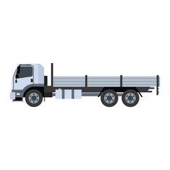 Vector tipper illustration isolated on white background. Vector tipper under construction icon illustration. Vector tipper isolated vector.