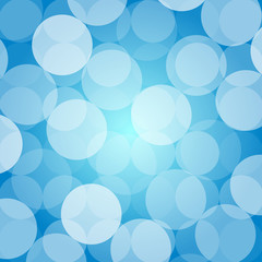 Abstract blue background with round bubbles vector illustration.