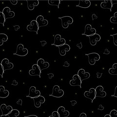 Two hearts. Seamless background.