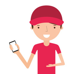 man delivery worker isolated icon