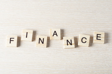 Wooden Blocks with the text: Finance