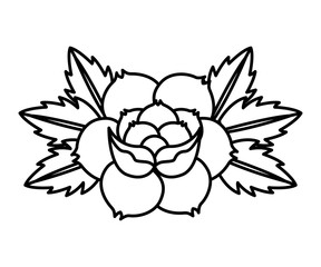 flower drawing tattoo style isolated icon