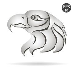Eagle head logo emblem. Symbol for business. American eagle