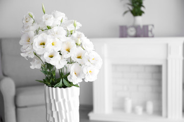 Beautiful flower bouquet in modern interior