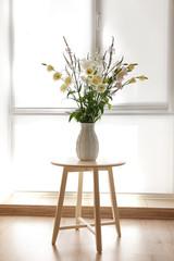 Beautiful flower bouquet in modern interior
