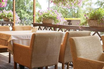 Cozy cafe interior