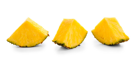 Pineapple slices, isolated on white