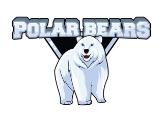polar bears illustration design colorful