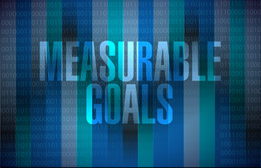 measurable goals binary background sign concept