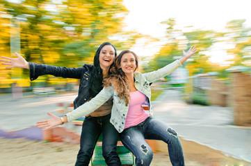 smiling beautiful young happy women