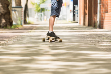 Boy Skating On Street