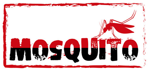 Sign with mosquito and wording