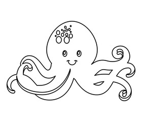 octopus tentacles isolated icon