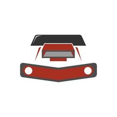car race logo icon Vector