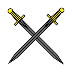 sword drawing tattoo style isolated icon