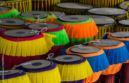 Long drums Thai music instrument popular In central region