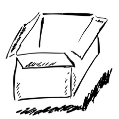 Hand Draw Sketch outline of Empty Box