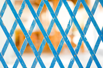Blue Grid Wooden fence