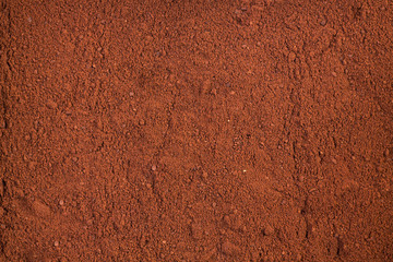 Dry powder cocoa for texture or bacground.